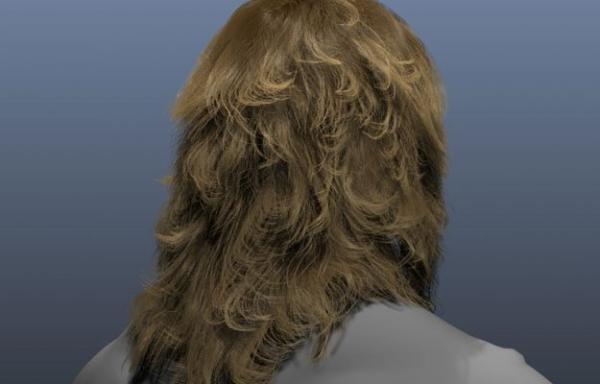 Beispiel einer mit NVIDIA HairWorks erstellten Frisur