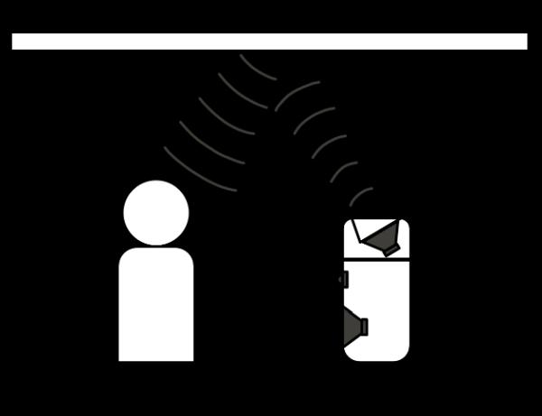"""Skizze eines Lautsprechers mit einem """"Enabled Speaker"""""""