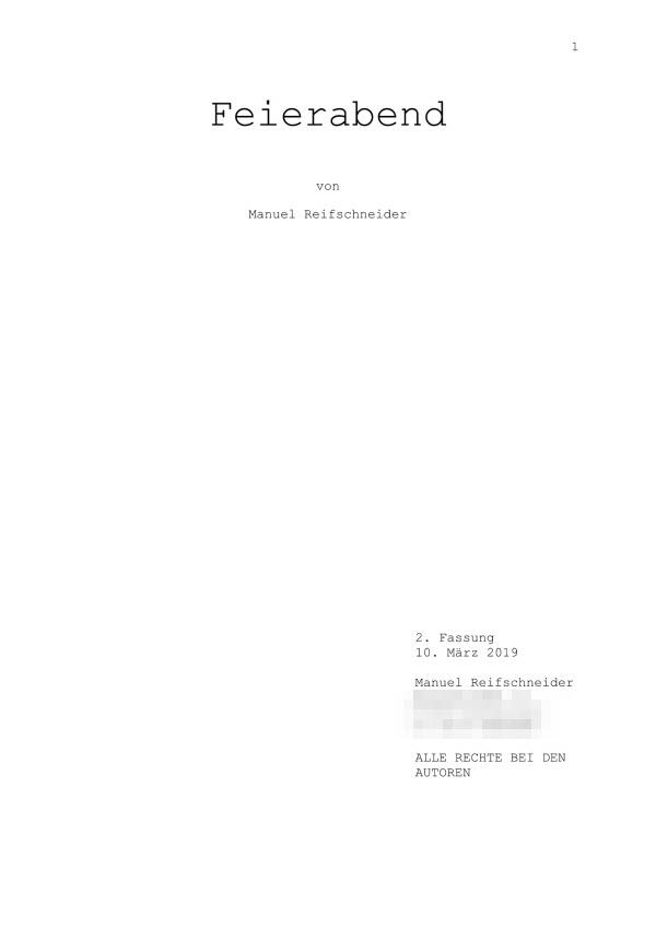 Drehbuch – Mini-Hörspiel Teil 1