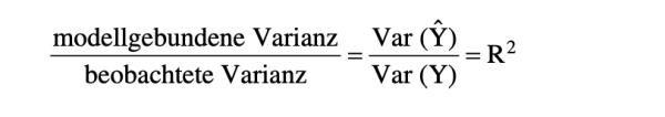 Das Bestimmtheitsmaß R-Quadrat